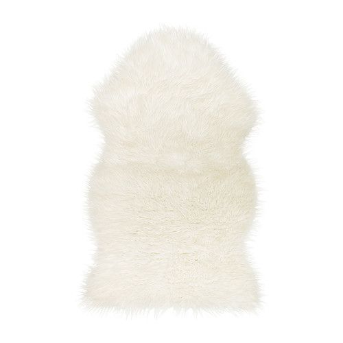 Affordable @IKEAUSA finds for easy home decor ideas | Tejn Faux Sheepskin in White, $12.99