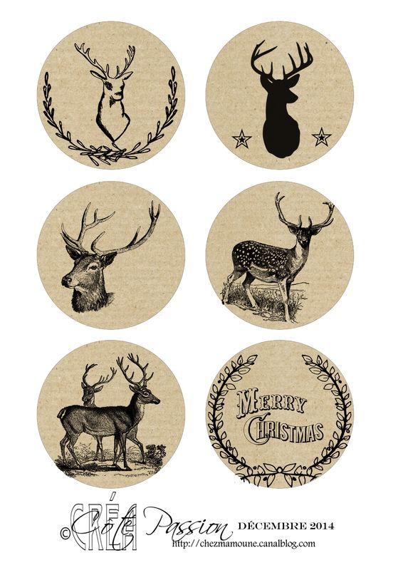 Avent 2014 Cote Passion -Deer- Christmas- Free printable- Tags