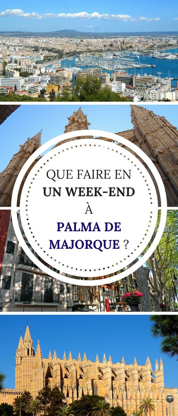 Vous partez à Palma de Majorque ? Quelle chance !! Voici notre TOP des lieux à visiter dans la capitale ! #Majorque #Palma #PalmadeMallorca #Voyage #Vacances