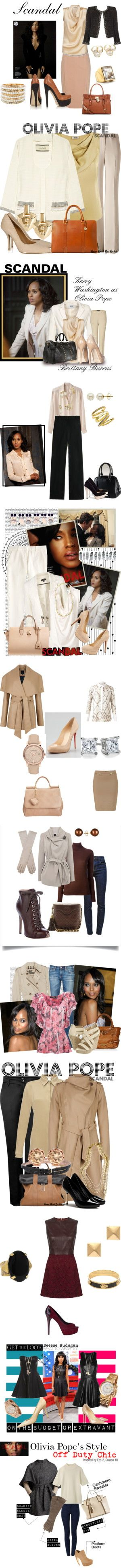 """Kerry Washington (Olivia Pope) Styles"" by fashionexplorer-890 on Polyvore. Absolutely fabulous."