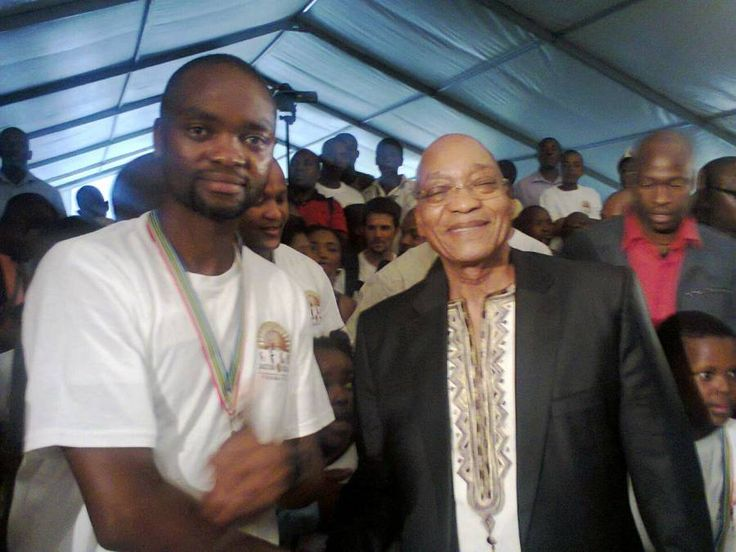 Leon Sithole with President Jacob Zuma