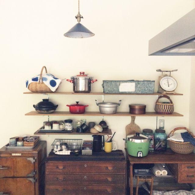 JUNKandRETROさんの、模様替え,古家具,レトロ,ジャンク,平屋,キッチン,のお部屋写真