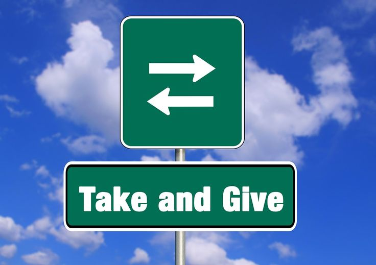 Give And Take, Road Sign, Donation, Arrows, Font