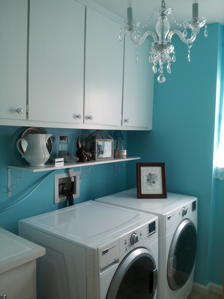 Top 25 Ideas About Turquoise Laundry Rooms On Pinterest