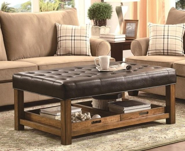 20 Awesome Coffee Table With Storage Designs - 25+ Best Ideas About Leather Coffee Table On Pinterest