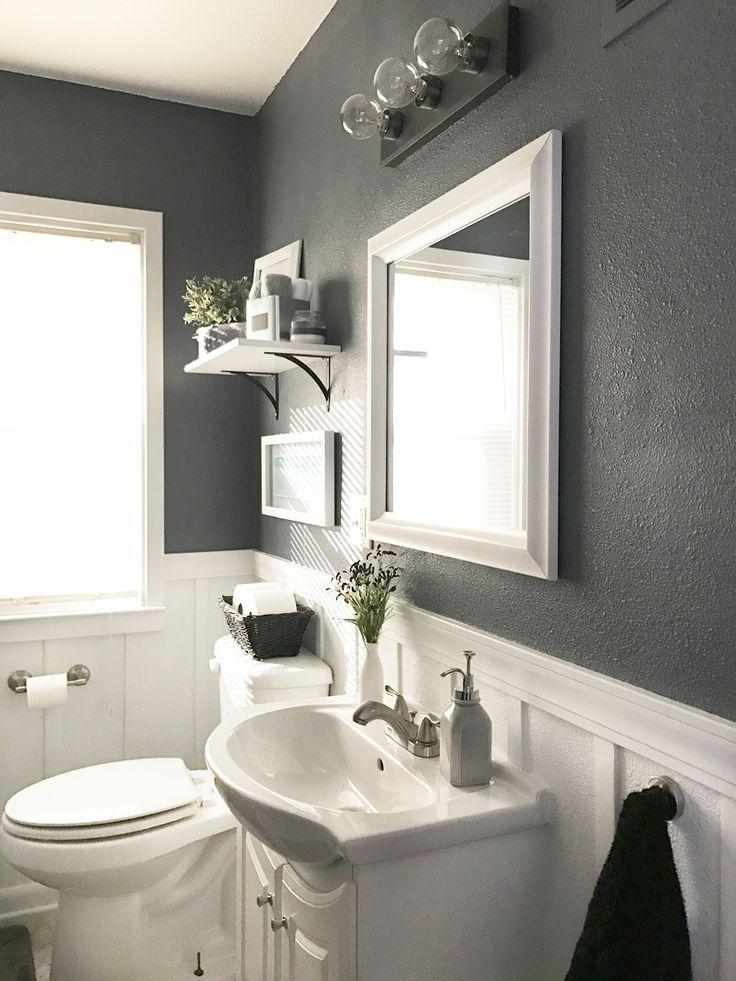 Best 25+ Dark gray bathroom ideas on Pinterest | Beadboard ...