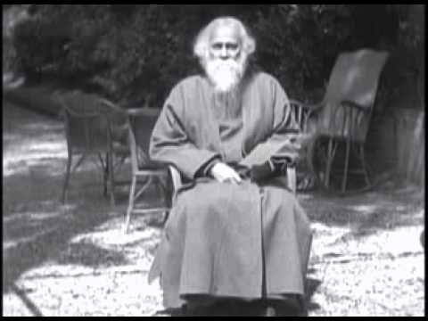 Rabindranath Tagore's own voice - YouTube