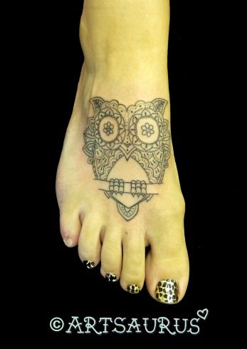 Owl foot tattoo. Would look cool on your wrist as well :)