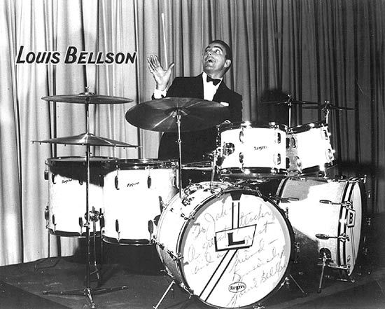 Louis Bellson double bass drum set