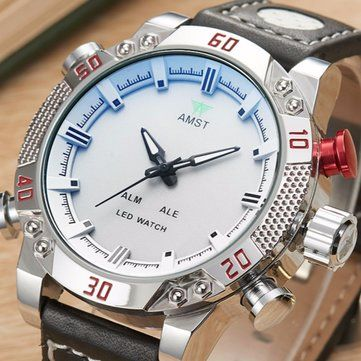 Only US$20.99 , shop AMST 3016 Multifunction Men Wristwatch Waterproof Shock Resistant Digital Analog Quartz Watch at Banggood.com. Buy fashion Men Watch online.