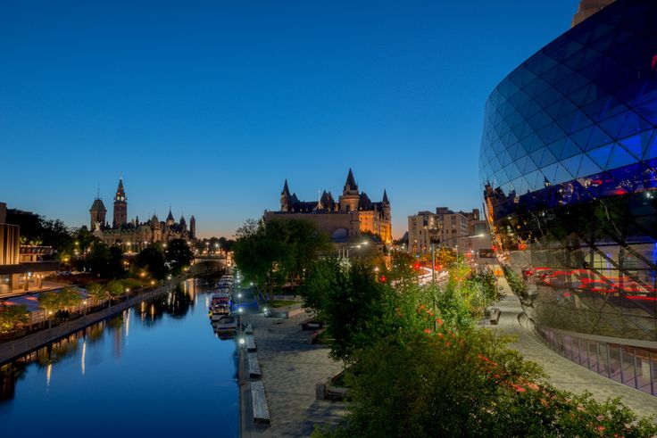 Rideau Canal and Convention Centre at night by John Tajima on 500px