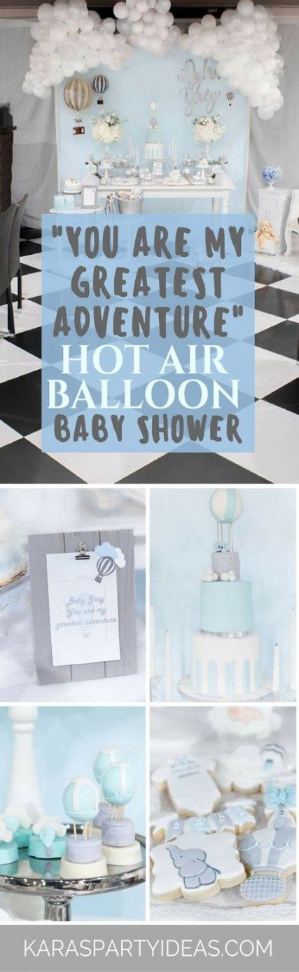 42+ Ideas for baby boy shower table decorations air balloon