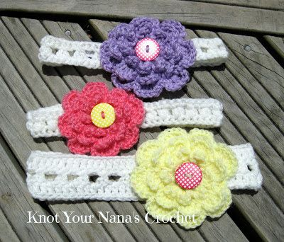 Knot Your Nana's Crochet: Easy Crossed DC Headband