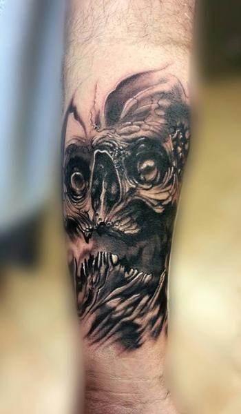 Black and grey skull by Jp Alfonso #InkedMagazine #blackandgrey #skull #tattoo #tattoos #Inked #Ink