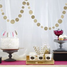 Confetti Garland - For above Cake table