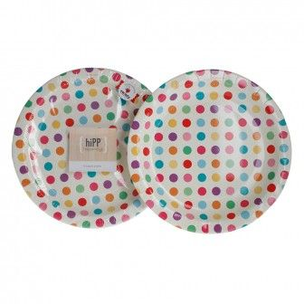 COLOURFUL SPOT Hipp Plates 18cm 12 pack for $5.95