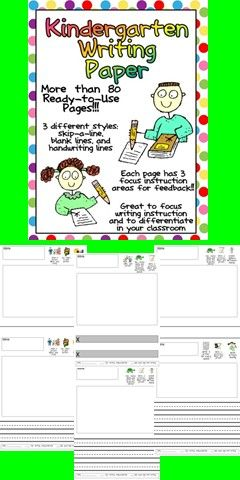 This packet is full of standards-based writing paper for kindergarten!!  On each page, there are three focus areas for students to work on in their writing. This is a great way to teach young students conventions of writing!!  There is a variety of numbers of lines on the pages to allow students to progress throughout the year and to allow you to easily differentiate in your classroom. $