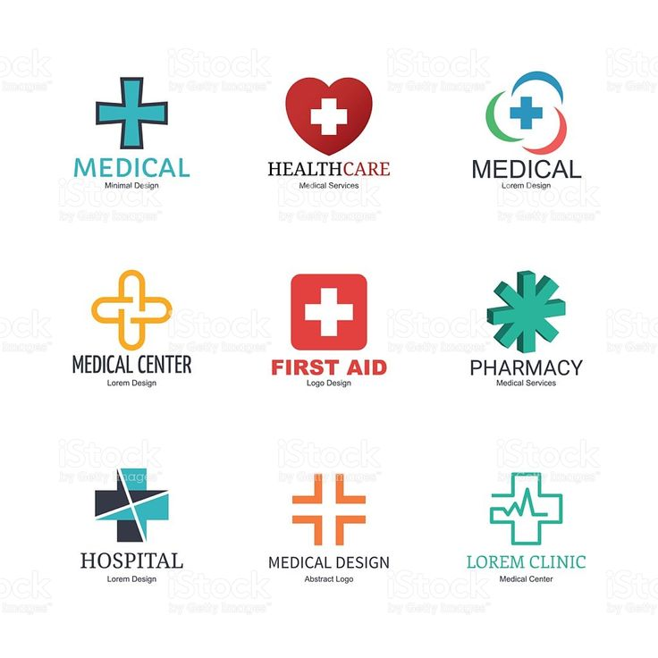 medical logo design royalty-free stock vector art