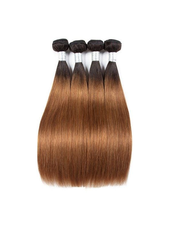 Straight Natural Ombre Human Hair Weft – #hair #hu…