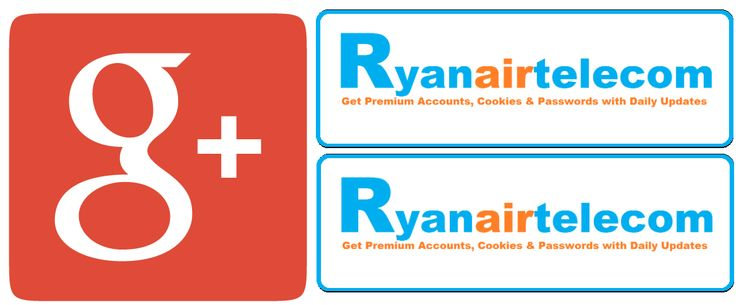 Ryanairtelecom is on Now Google Plus also. Please follow us on Google+ and get daily updates related to premium accounts. #Ryanairtelecom #premiumaccount #premiumaccountscookies #g+ #googleplus