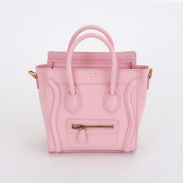 Celine Luggage Nano Tote Bag Calfskin Leather Baby Pink [Celine ...