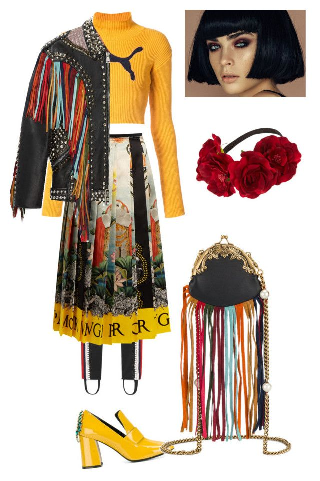 """""""Cool af"""" by ralugoii on Polyvore featuring Puma, Gucci and Coliàc Martina Grasselli"""