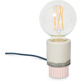 Lecia Ceramic Pink & Grey Table Lamp