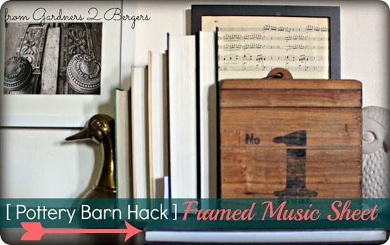 Easy Framed Sheet Music Art