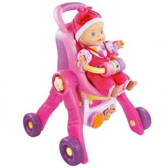 Carrito para muñecas little love de bebé 3 en 1-Idioma castellano