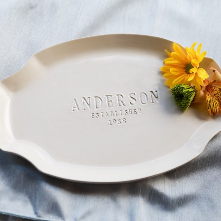 Personalized Platter Wedding Gift Bridal Shower