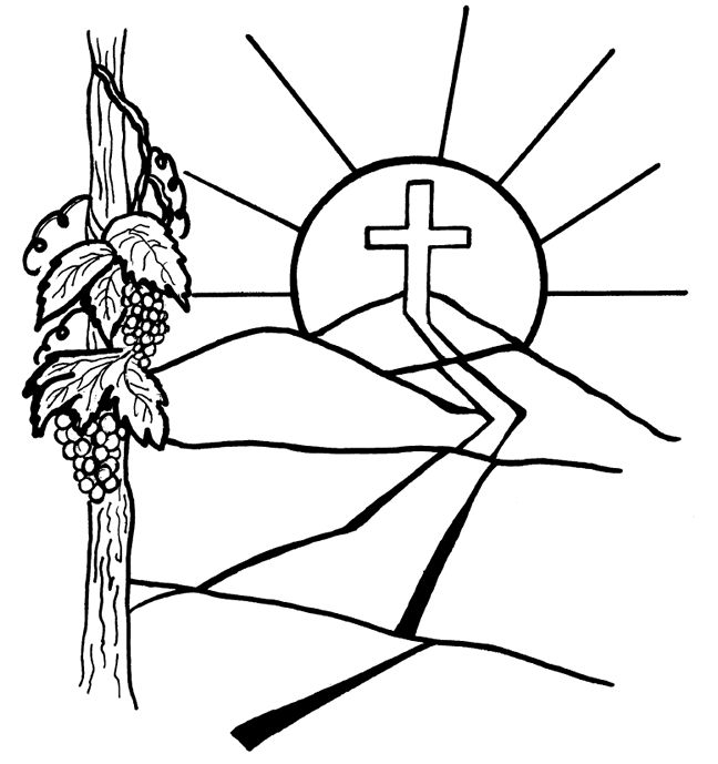 u0026quot i am the vine  you are the branches u0026quot  coloring page