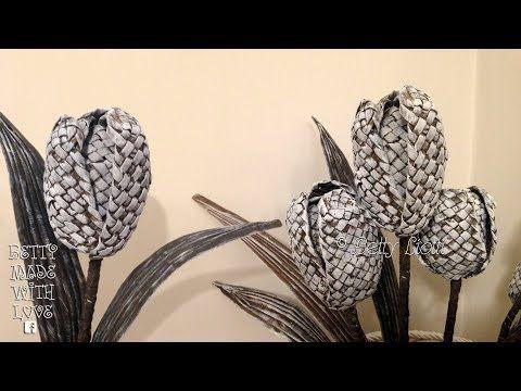 Tulipani con cannucce di carta