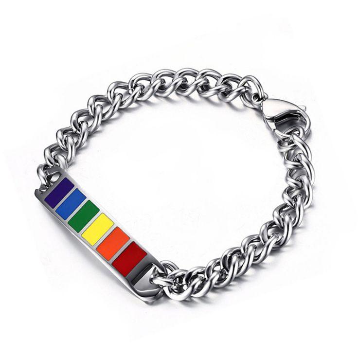 Bracelet #Gay Pour hommes en acier inoxydable