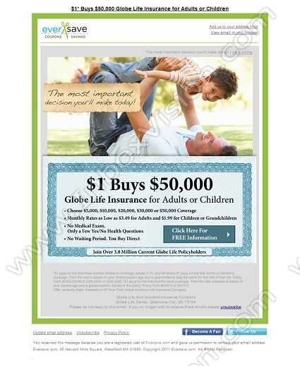 Globe Life Insurance Quote: 17 Best Images About Email Design: Insurance On Pinterest