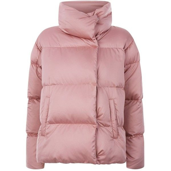 Weekend Max Mara Caio Quilted Puffer Jacket ($425) ❤ liked on Polyvore featuring outerwear, jackets, quilted jacket, pink boyfriend jacket, puffy jacket, weekend max mara jacket and lightweight jacket