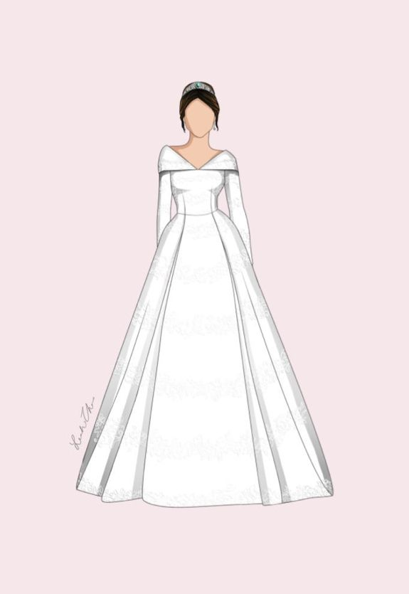 The Very Talented Leah Zhao S Royal Wedding Dresses Drawing