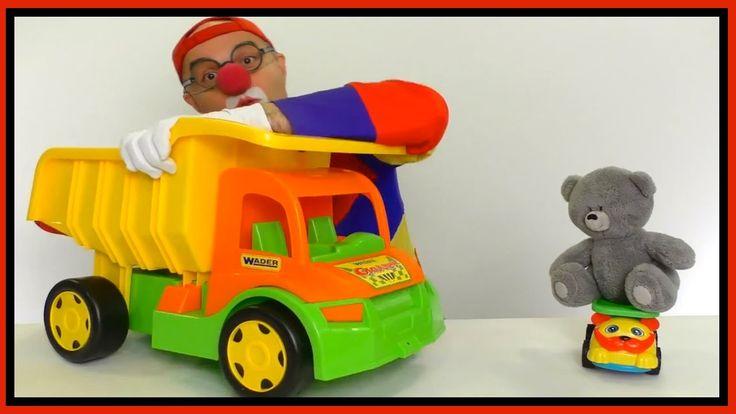 Videos for Kids - Car Clown MASSIVE LEGO Truck & Teddy Bear Truck! (Chil...