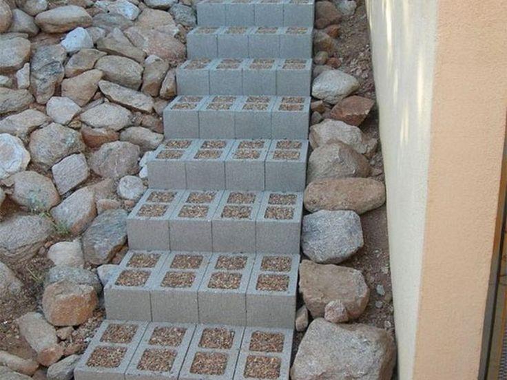 17 mejores ideas sobre bloques de cemento en pinterest for Bloques de cemento para jardin