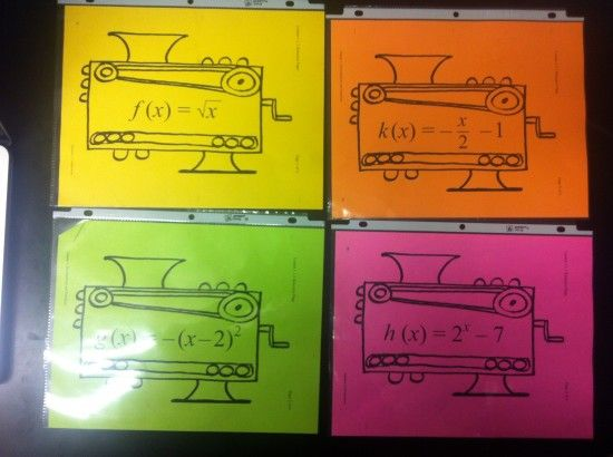 Activities for teaching functions -- including function composition.