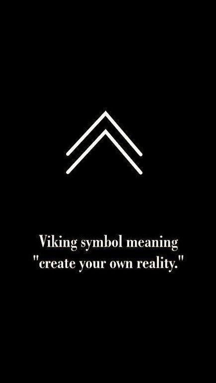 """Wikingersymbol bedeutet """"Erschaffe deine eigene Realität"""" – # bedeut … – Alphabet"""