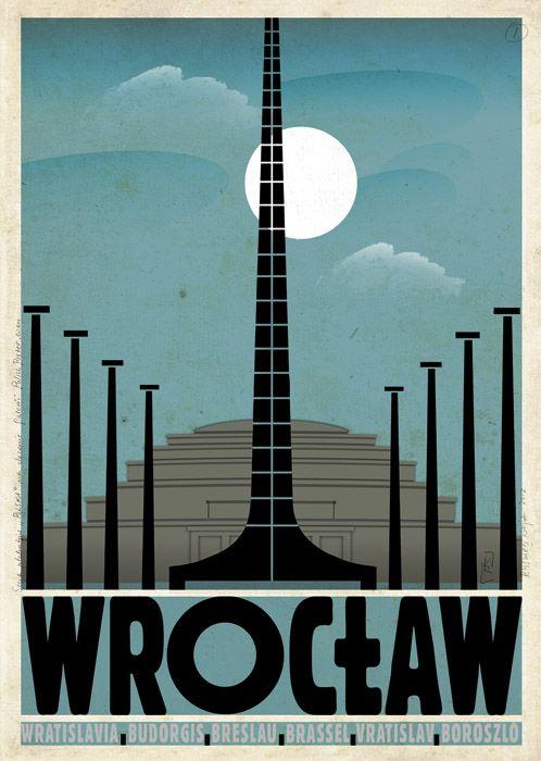 Wroclaw, Vratislavia, Breslau, Polish Poster - Ryszard Kaja