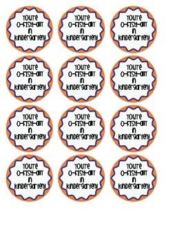 O-FISH-ALLY in Kindergarten Labels
