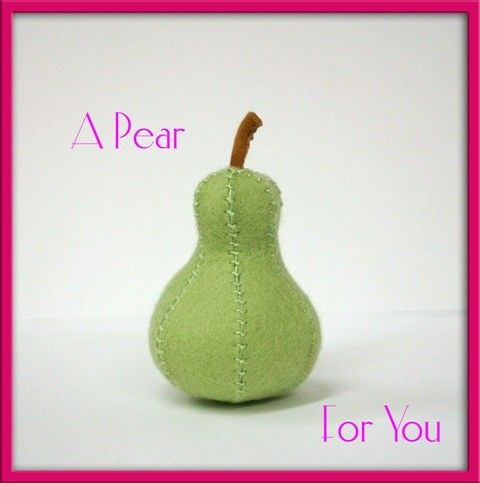 Hey, I found this really awesome Etsy listing at https://www.etsy.com/listing/70887812/natural-wool-felt-play-food-pear-fruit