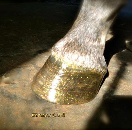 Pony Glam Horse hoof glitter dressing