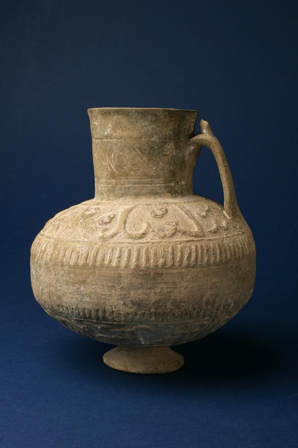 Islamic Terracotta Jug: Circa 800 - 1000AD