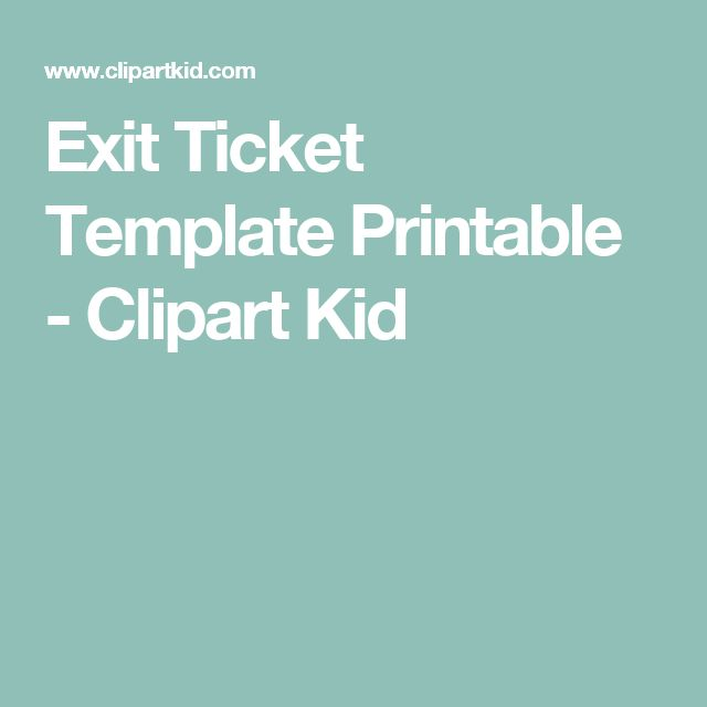43 best Exit Ticket images on Pinterest Education, Exit slips - exit ticket template