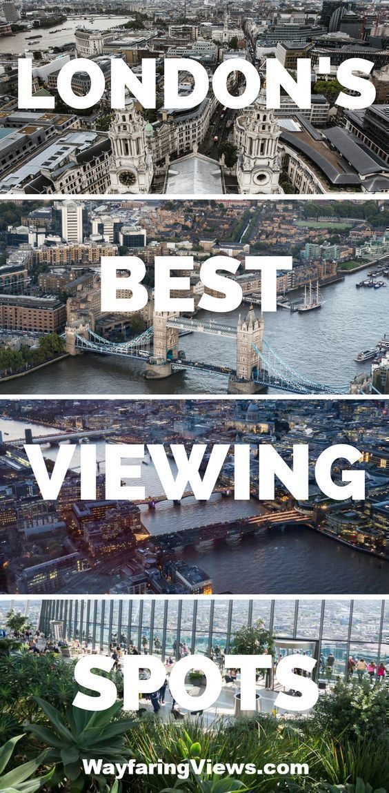 See the best views of London with this guide to all the best sky high spots. #travel to #London #England Things to do in London | Shard | Tower of London | London Eye | London viewing platforms | London rooftop pbars | What do do in London | City view of London | Birds eye View of London #londontravel #spaintravel