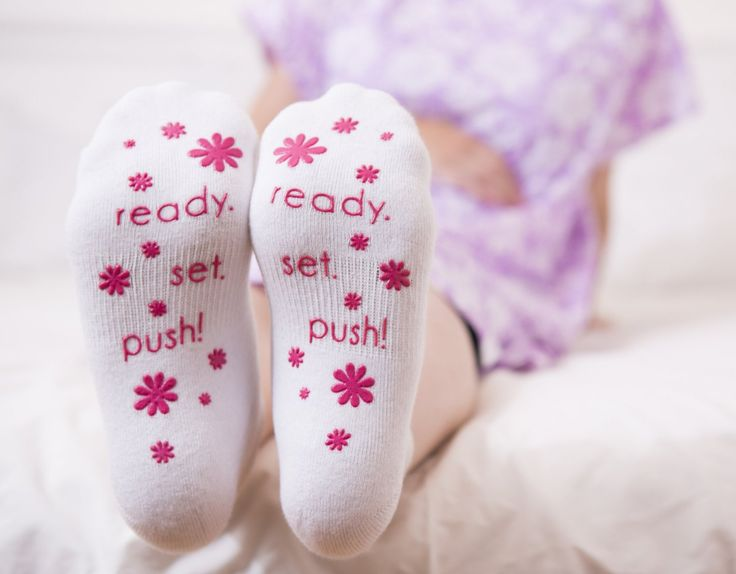 Baby Be Mine Labor & Delivery Non Skid Socks by Baby Be Mine Maternity