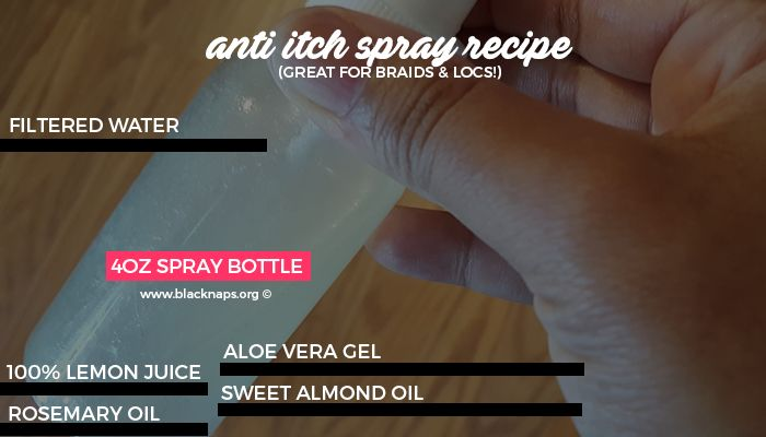 Use my simple hair spray recipe using common kitchen ingredients that works amazingly well at relieving itchy scalp.
