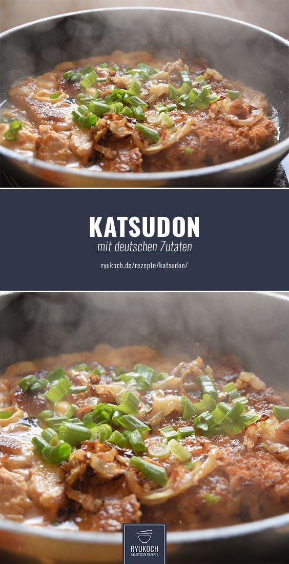 Katsudon (Donburi) Rezept mit deutschen Zutaten. Japanisches Gericht